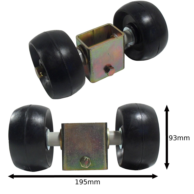 Jetski Boat Dinghy Trailer Keel Flat Rollers Rubber 127mm 16mm Bore UBR22