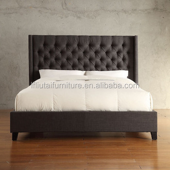 Latest Design Bed High Density Sponge King Leather Headboard