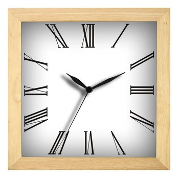 "12"" Simple Design Wooden Frame Clock Made In China/Roman Numeral"