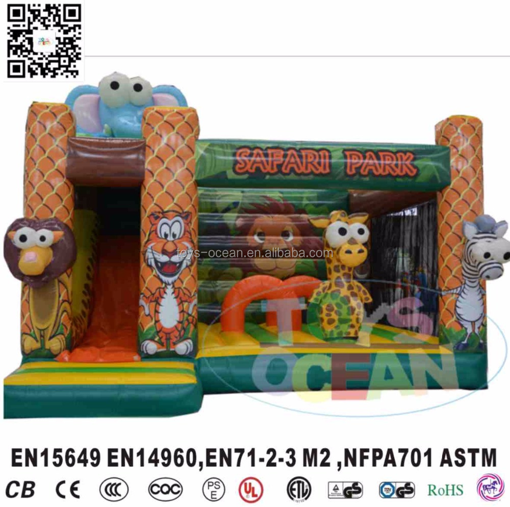inflatable animal jungle lion bouncer house for kids party rental