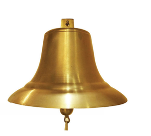 high quality large brass temple hanging bells made in China , with polishing surface