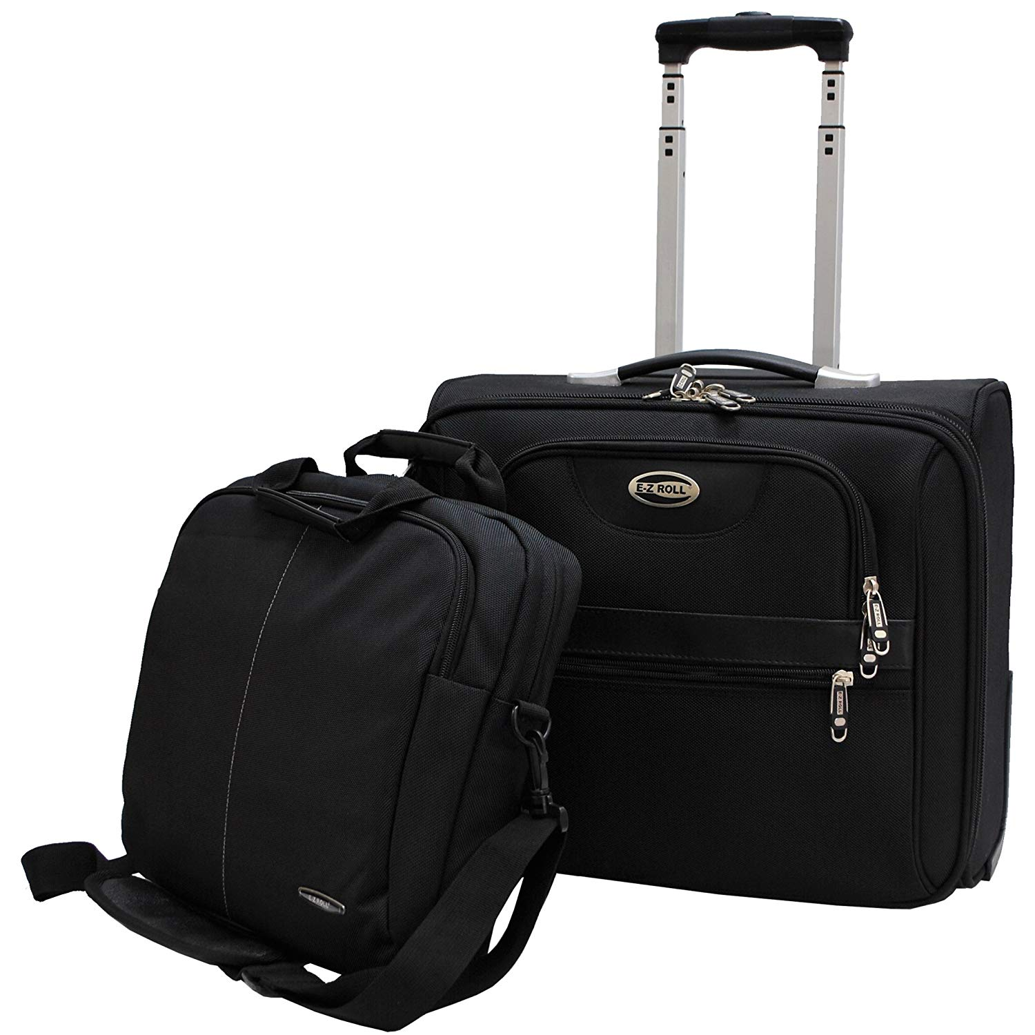 204aa0c368bd Get Quotations · E-Z Roll Brand Rolling Laptop Bag Business Briefcase W  Computer Shoulder BagBrand Rolling Laptop
