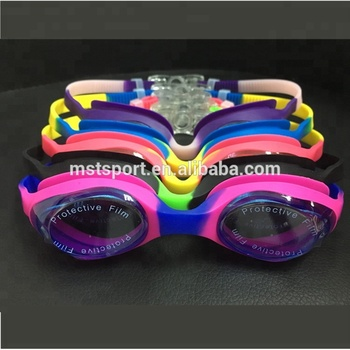 2018 new fashion colorful uv protection silicone goggles waterproof swimming goggles anti fog best kids swim goggle