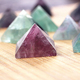 Natural Rainbow Fluorite Quartz Carved Crystal Pyramids Healing crystals