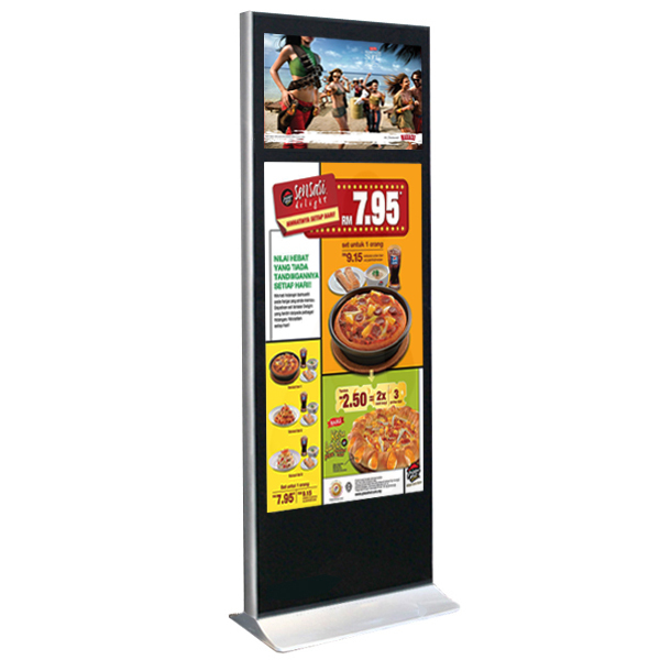 "65"" commercial high quality display stand with LCD brand Samsung or LG brand"