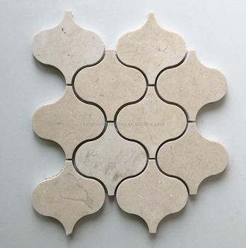 Crema Marfil Marble Lantern Pattern