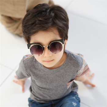 e819273bf8 2017 Latest Fashion Best Selling Gold Round Cat Eye Sunglasses Kid ...