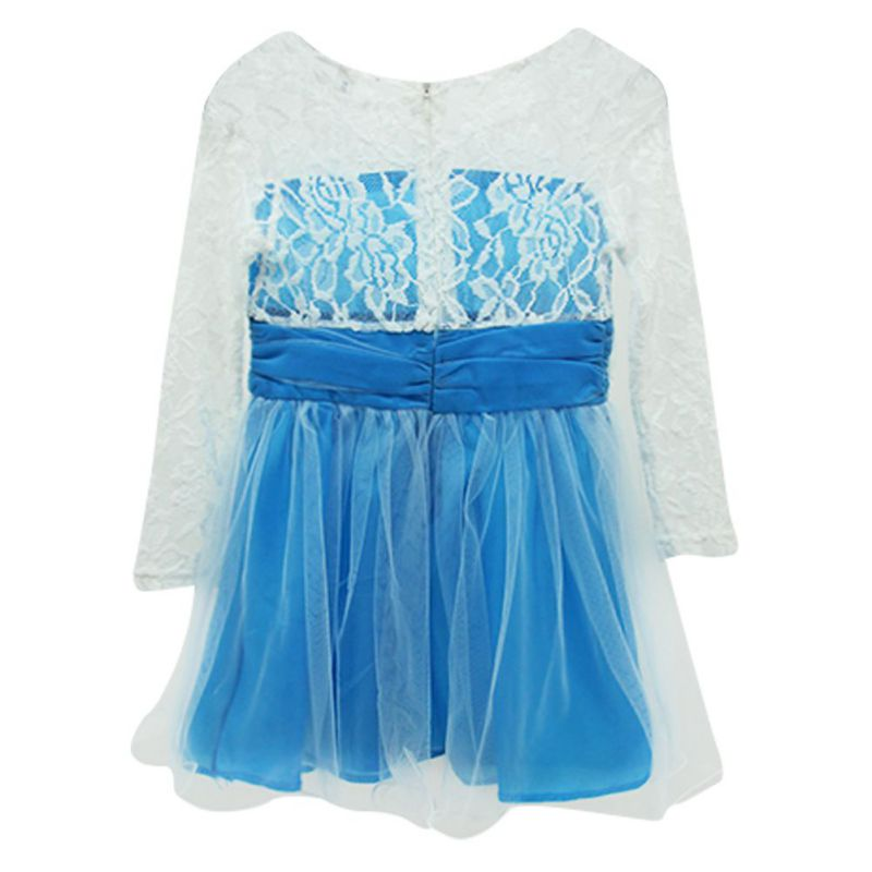 2015 Girls Princess Lace font b Fancy b font font b Dress b font Long Sleeve