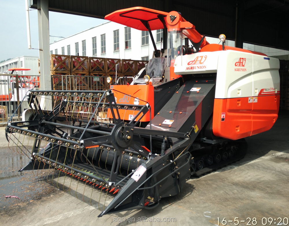 Full Feed Self-propelled New Small Mini Rice harvest machine