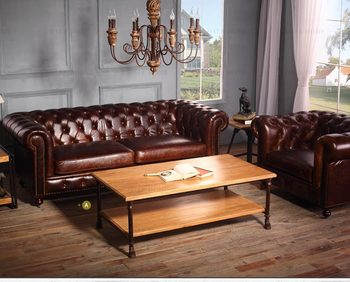 Leather Couch Living Room Furniture