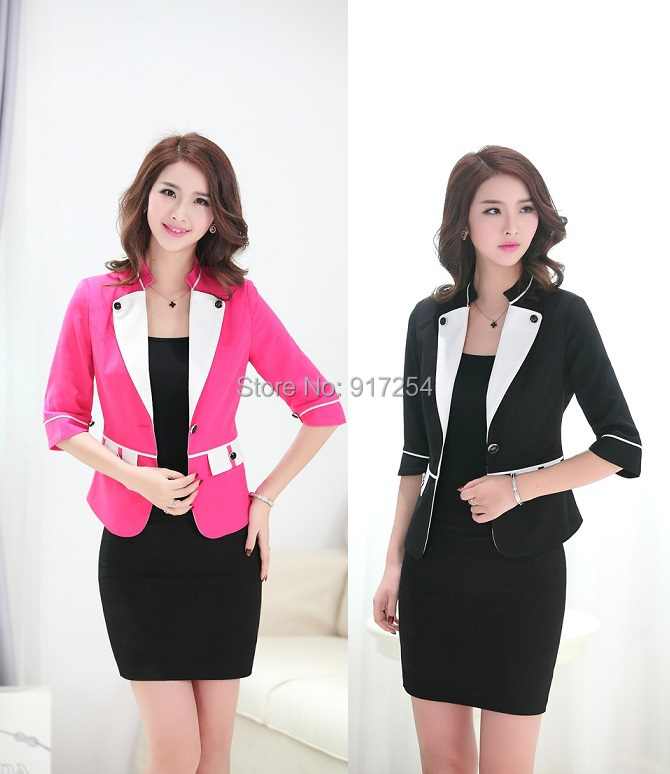 d59d9f6771 New High Quality Fashion Slim Women Suits Jackets And Dress 2015 Spring  Summer Formal Uniforms Blazers