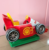 Four-wheel kid motorcycle ride on toy fiberglass car amusement coin operated kiddie swing ride in car game machine