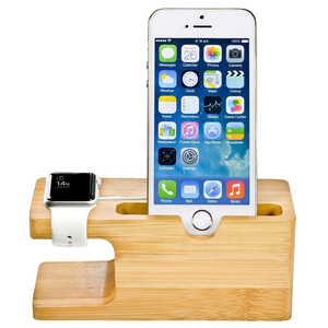Bamboo Watch Stand and Mobile Phone Charging Stand Holder Could be Perfect Gift For your family, friend
