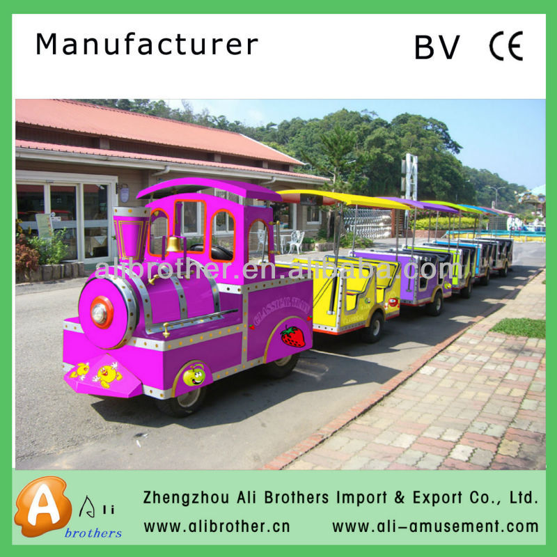 CE approved Economic amusement park tourist used trackless train for sale