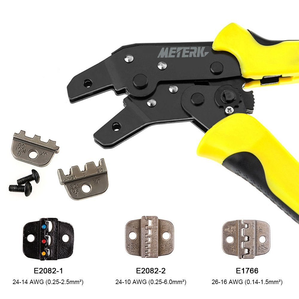 Meterk Wire Crimper Engineering Ratchet Terminal Crimping Pliers JX-02C 0.25-2.5Mm2 Insulated Terminals Multitools Wire Crimper