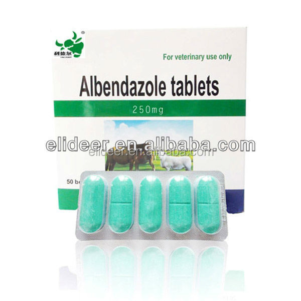 veterinary drug Albendazole tablet 250mg for animal medicine