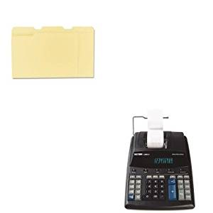 KITUNV12113VCT14604 - Value Kit - Victor 1460-4 Extra Heavy-Duty Two-Color Printing Calculator (VCT14604) and Universal File Folders (UNV12113)