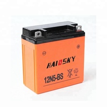 Haissky professional 12N5-BS for honda cg200 rechargeable mf motorcycle battery 12v 5ah
