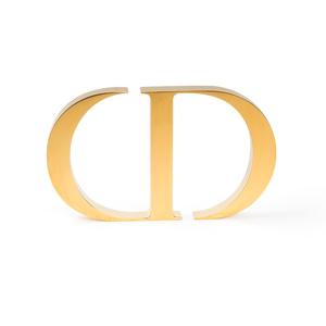 3d gold plating metal logo sign