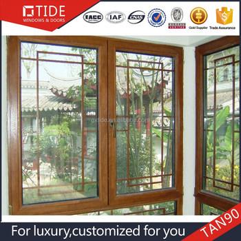 Latest grille window india design wood interior aluminum for Latest window designs in india