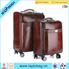 "20"" 24"" PU vintage luggage bag for airplan and travel"
