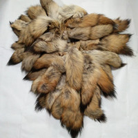 DIY Genuine Real large size fluffy wolf fur tail