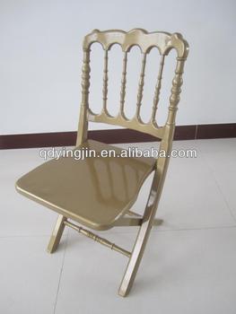 Gold Beautiful Wood Wedding Folding Napoleon Chair