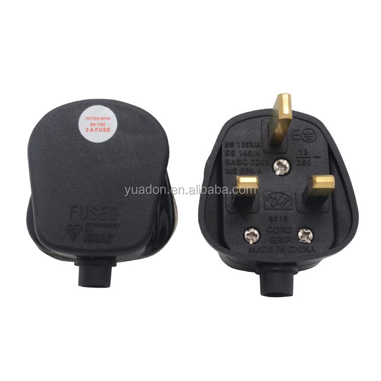 9518 13A Boîte de 20 black PRO ELEC plug 13A boîte noire de 20