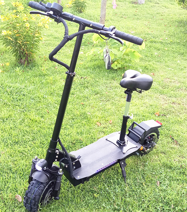 New arrive dualtron electric scooter with seat for adults 60V 3200W 3000W electric scooter, Black