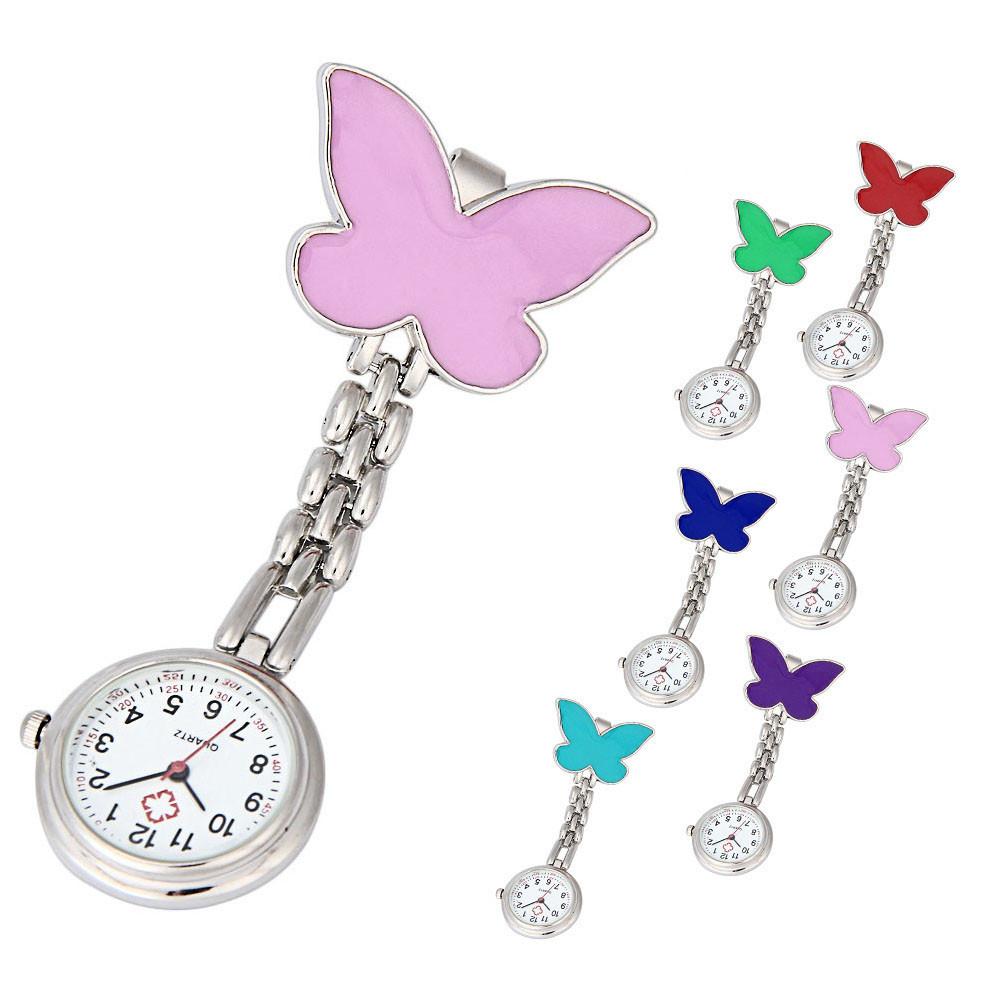 Free Shipping Popular Women's star smile Pendant Watches Nurse Pocket Watch Casual Pendant Hanging Fob Brooch Quartz Watch
