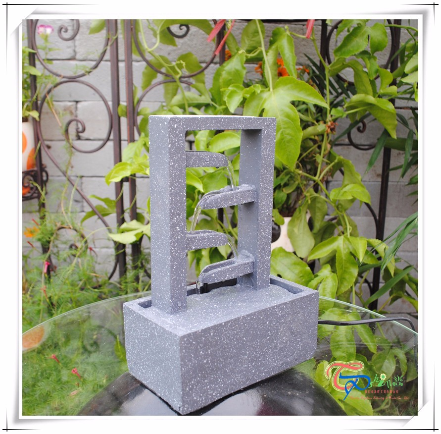 Handmade Mini Indoor Tabletop Waterfall Fountain
