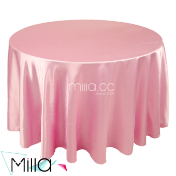 120 Round Satin Tablecloth For Wedding