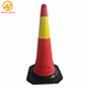 PE traffic cone with rubber base road safety traffic cones barrier