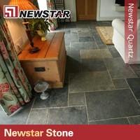 honed surfaced natural slate floor tiles design