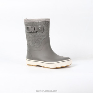 cheap kids rain boots with fabric upper