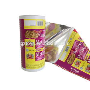 wholesale cheap customized printing PE/AL/PET/ Laminated food packaging Plastic Roll Film for Biscuit,cookie