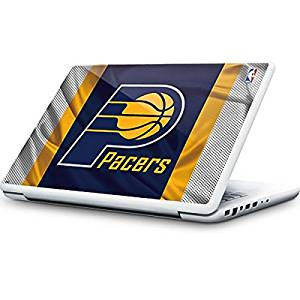 e1cf39a6c Get Quotations · NBA Indiana Pacers MacBook 13-inch Skin - Indiana Pacers  Away Jersey Vinyl Decal Skin