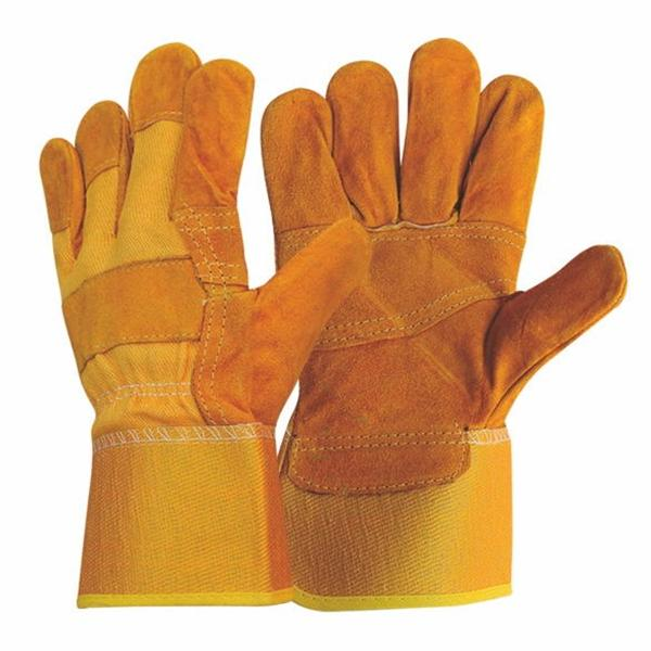 2Pcs//pack work gloves cowhide leather men working welding gloves driver CP