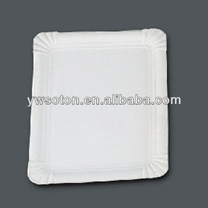 rectangle disposable paper plate