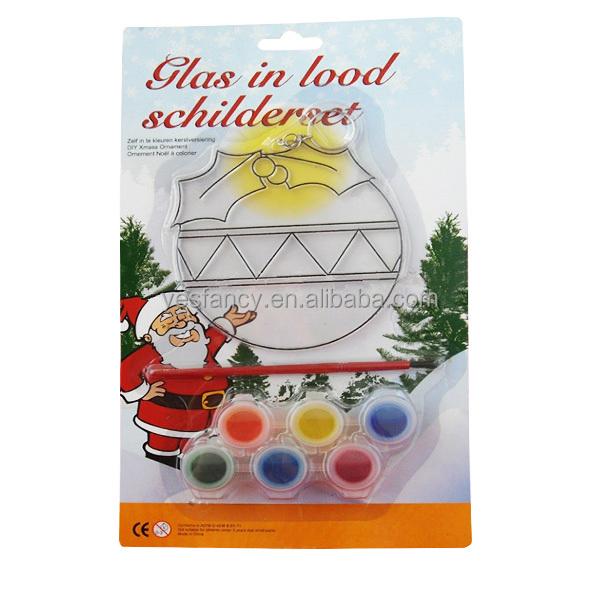 OEM glass suncatcher plastic wholesale suncatchers for kids christmas paint