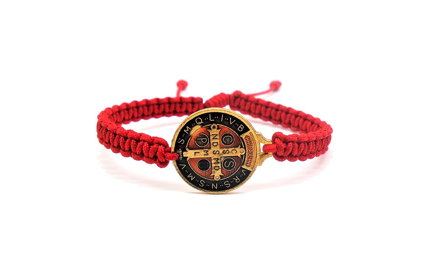 Benedict Gifts Catholic St. Benedict Bracelet, Red Blessing Bracelet, Beautiful St. Benedict Medal Both Sides, Handmade Bracelet, Catholic Bracelet, Fashion Bracelet, Blessing in Faith,Holy Bracelet