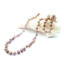 Multiple Selection Weaving Necklace Handmade Woven Trendy Seed Bead Jewelry Rice Fresh Water Pearl