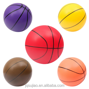 Eco friend PVC toy style mini basketball customized colored basketballs