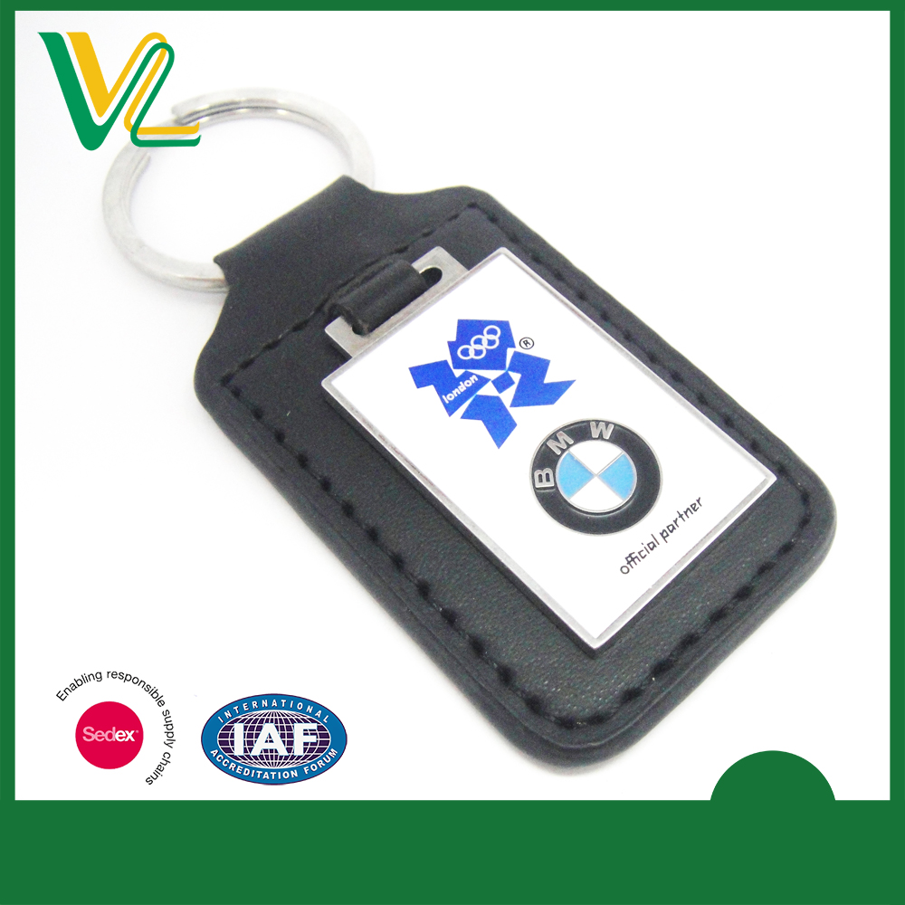 Leather with Metal Tag BMW Car Key Chain