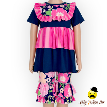 c223e5c6ea4c Bulk Wholesale Kids Giggle Moon Remake Outfits Flower Ruffle Shirts ...