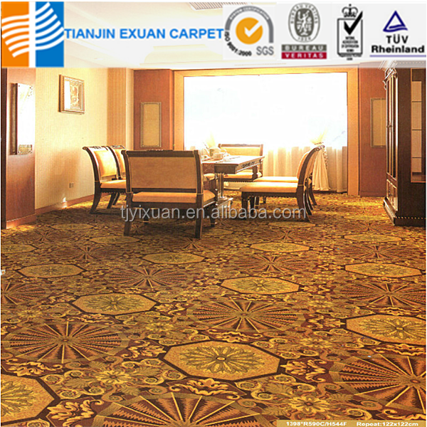 PP wilton floral hotel pattern wall to wall carpet