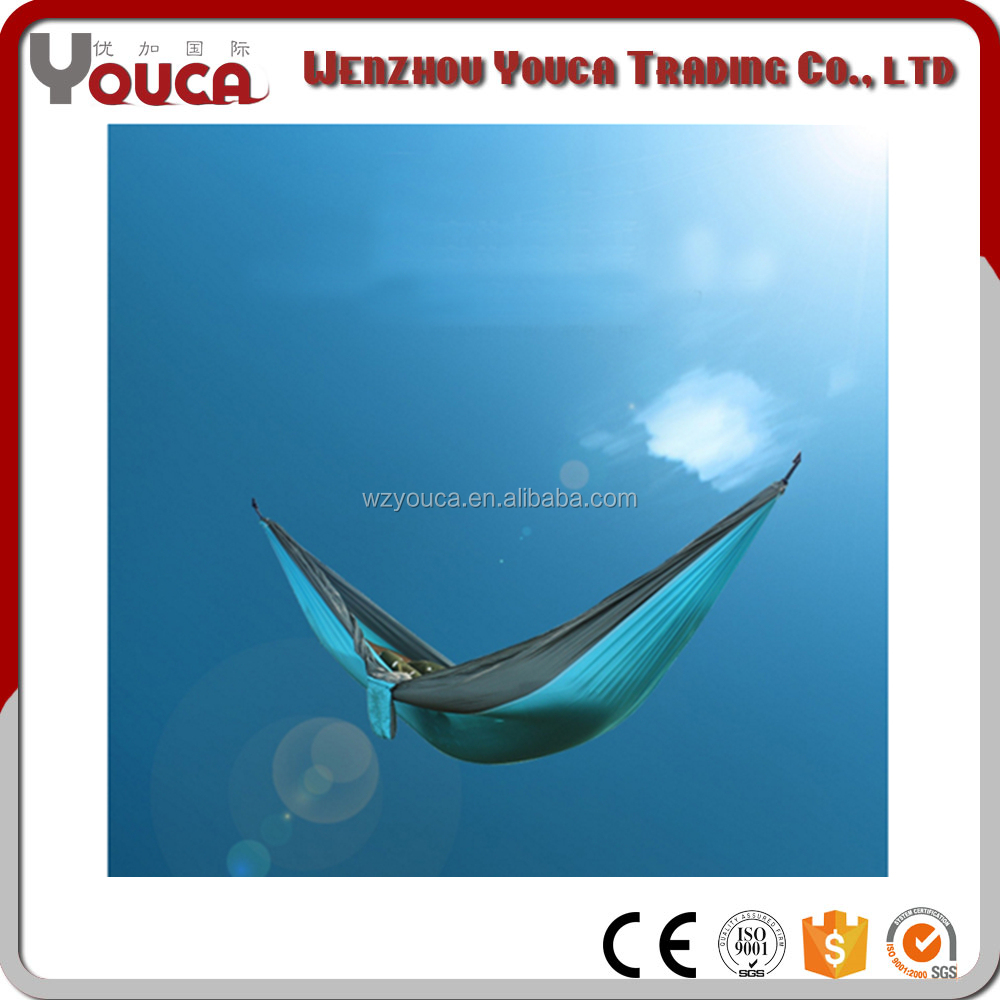 Hot Sale Cheap Parachute Traveling Camping Portable yarn-dyed fabric Hammock double