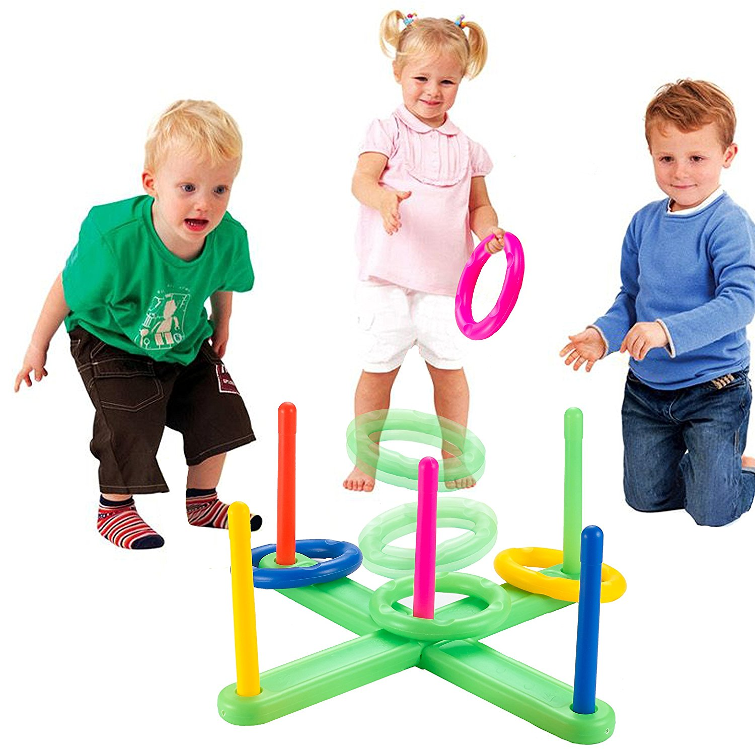 Mini Horse Outdoor Kids Games - Ring Toss Games for Kids and Outdoor Toys Keep Kids Active - Easy to Assemble - Fun Family Games for Kids and Adults,Gift for Kids 4-15 Years Old