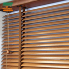 Nature wood blinds / ladder tape wood blinds wooden basswood venetian blinds