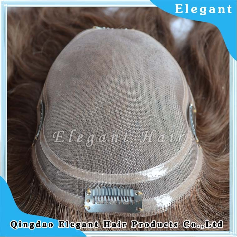 hot sale Fine mono base system with PU edge style wholesale men's toupee from qingdao